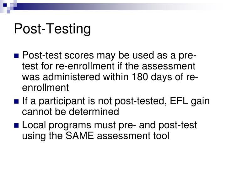 Post-Testing