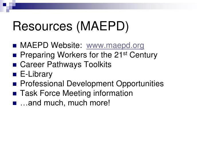 Resources (MAEPD)