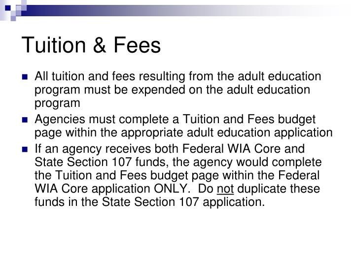 Tuition & Fees