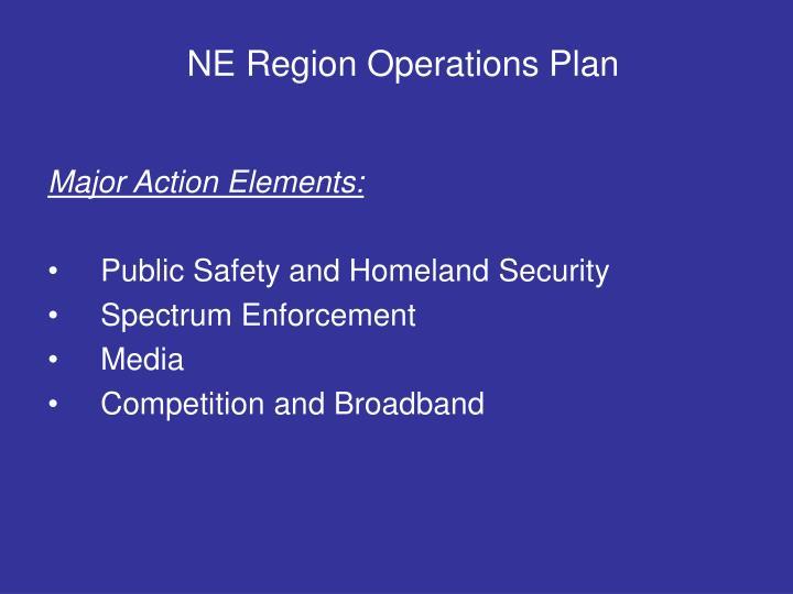 NE Region Operations Plan