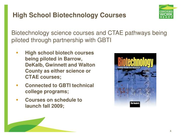 High School Biotechnology Courses