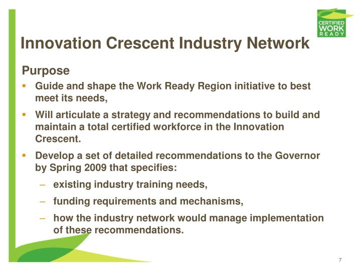 Innovation Crescent Industry Network
