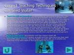 correct teaching techniques confined water