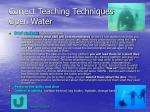 correct teaching techniques open water