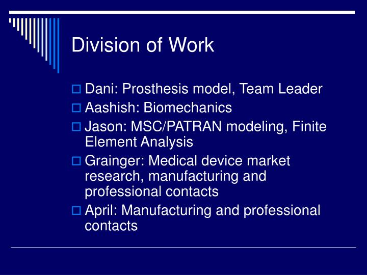 Division of Work