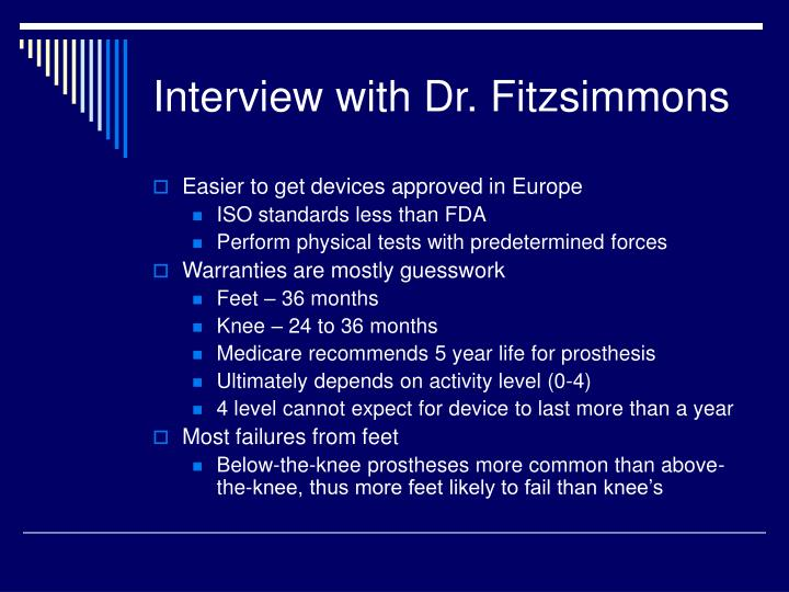 Interview with Dr. Fitzsimmons