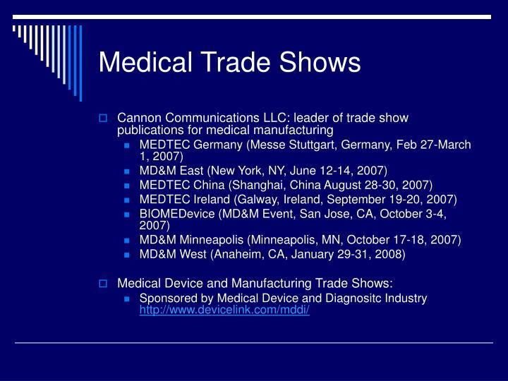 Medical Trade Shows