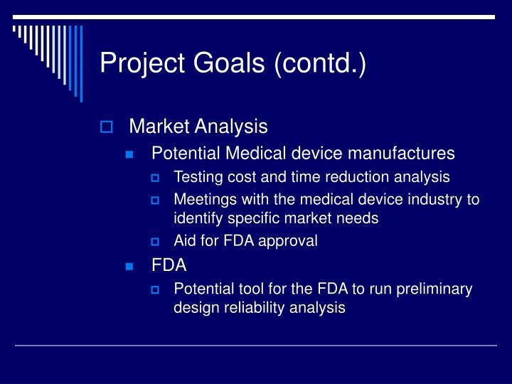 Project Goals (contd.)