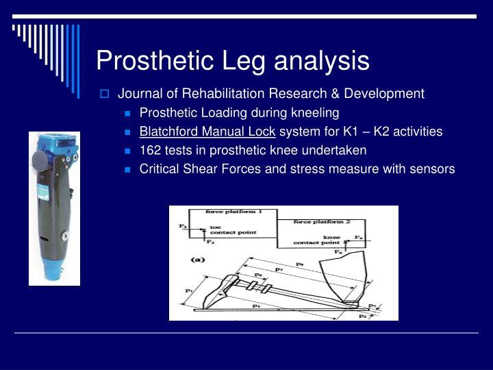 Prosthetic Leg analysis