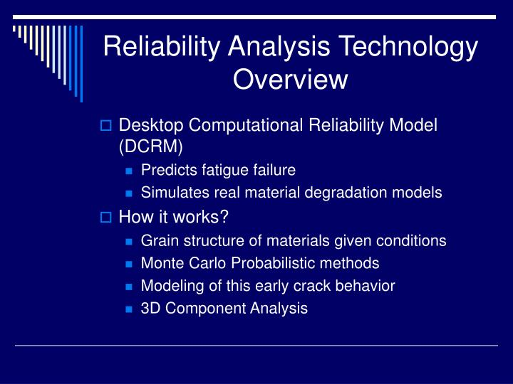 Reliability Analysis Technology Overview