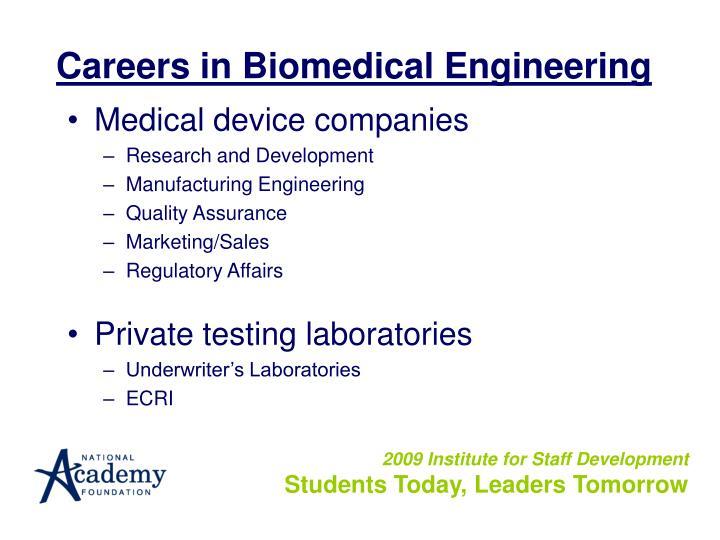 Careers in Biomedical Engineering