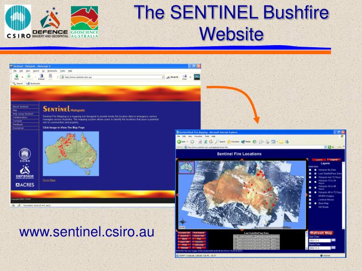 The SENTINEL Bushfire Website