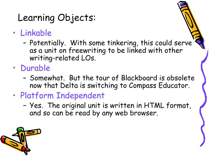 Learning Objects: