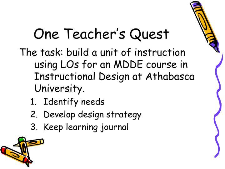 One Teacher's Quest