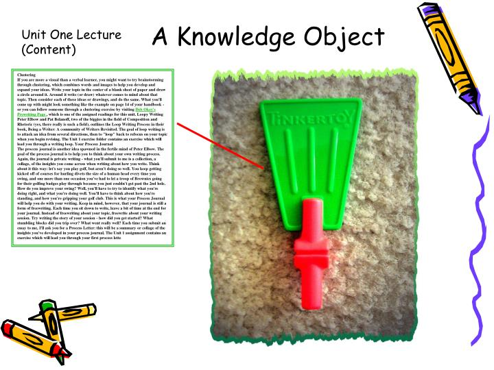 A Knowledge Object