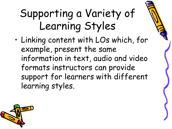 Supporting a Variety of Learning Styles