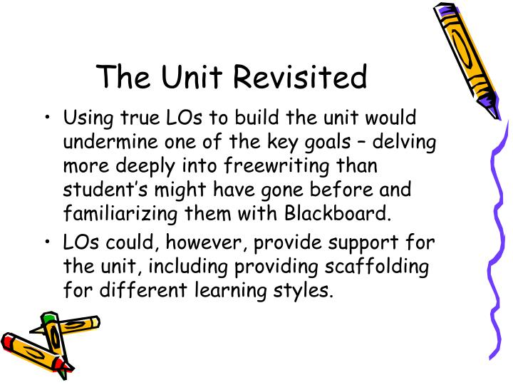 The Unit Revisited