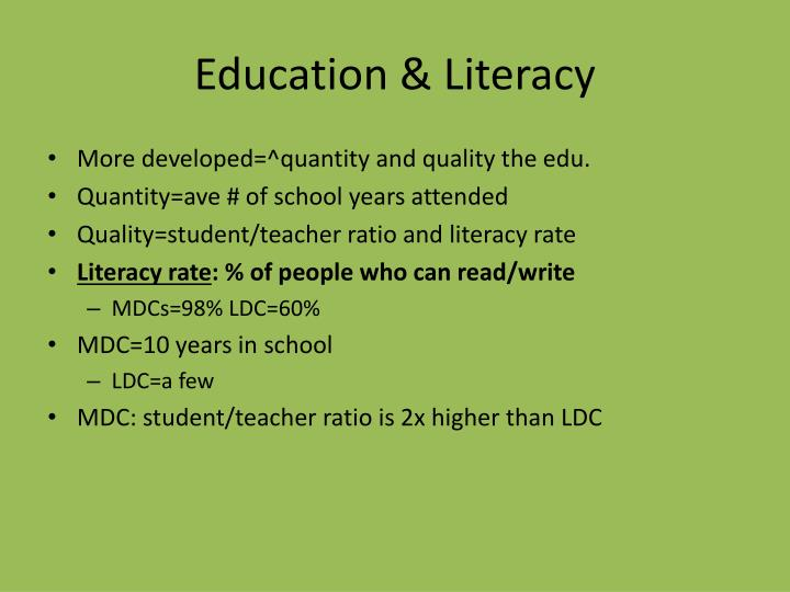 Education & Literacy