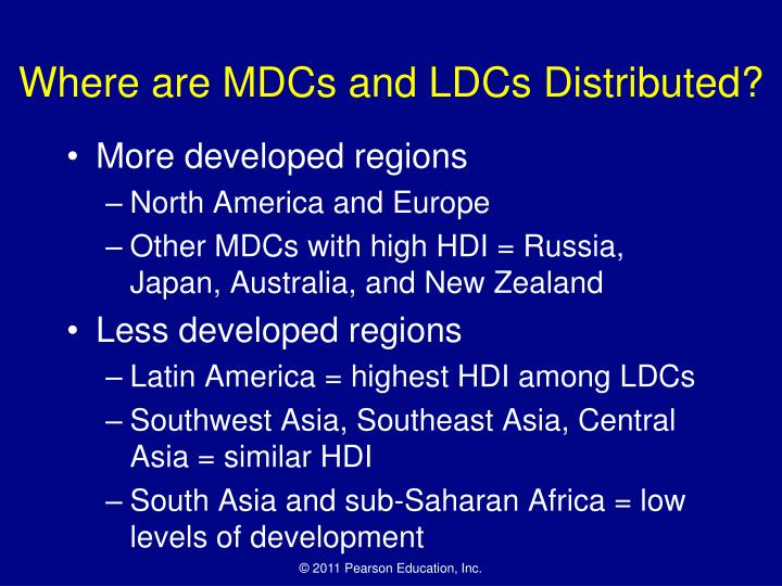 Where are MDCs and LDCs Distributed?