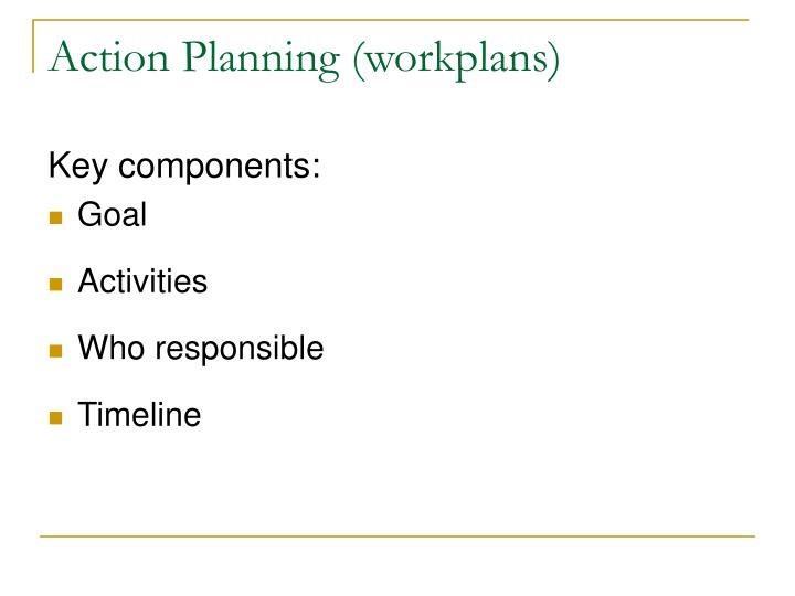 Action Planning (workplans)