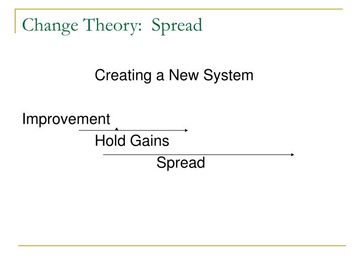 Change Theory:  Spread