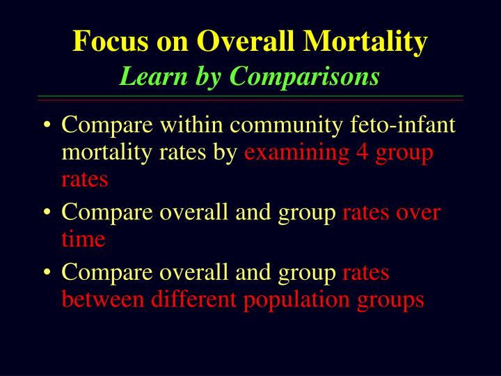 Focus on Overall Mortality