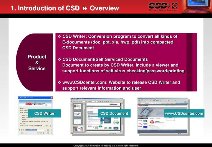 1 introduction of csd overview