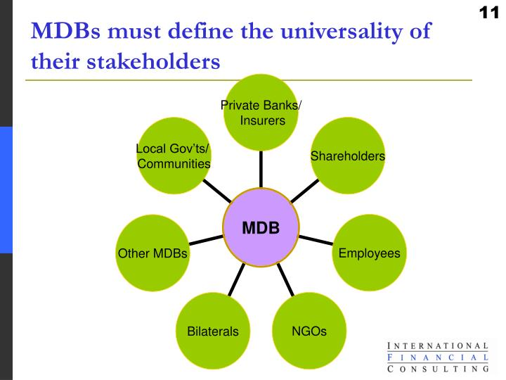 MDBs must define the universality of their stakeholders