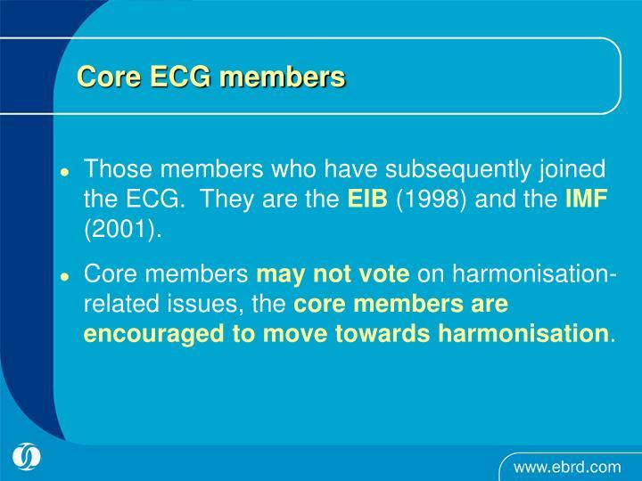 Core ECG members
