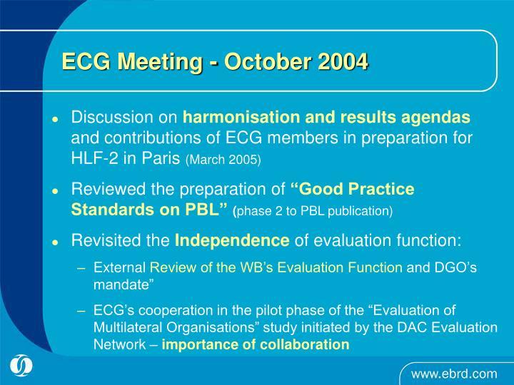 ECG Meeting