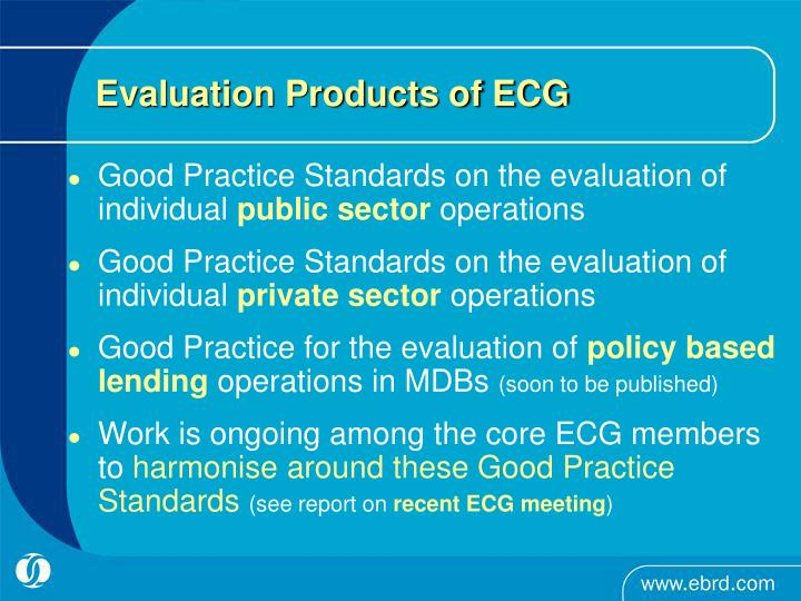 Evaluation Products of ECG