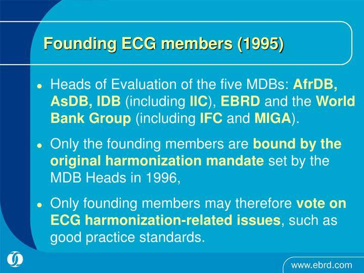 Founding ECG members (1995)
