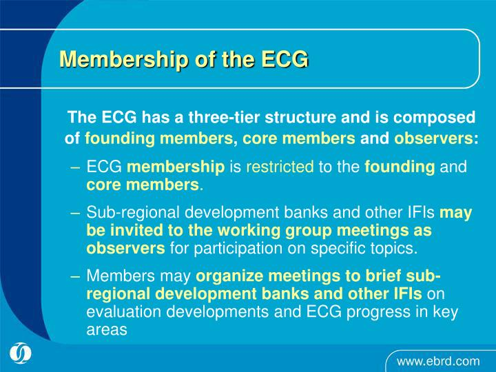 Membership of the ECG