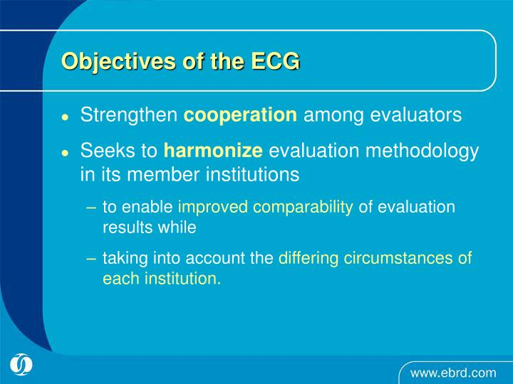 Objectives of the ECG