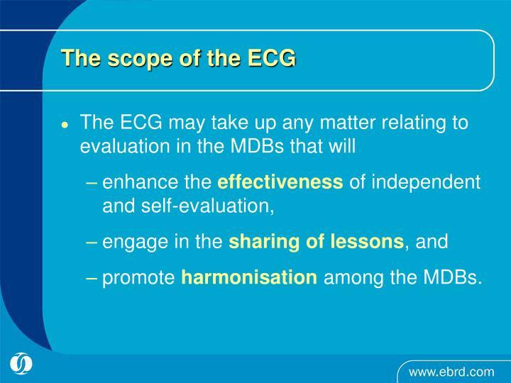 The scope of the ECG