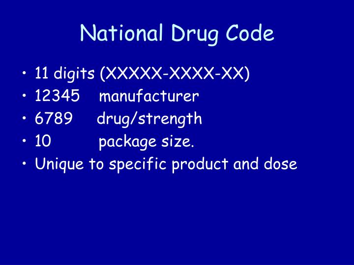 National Drug Code