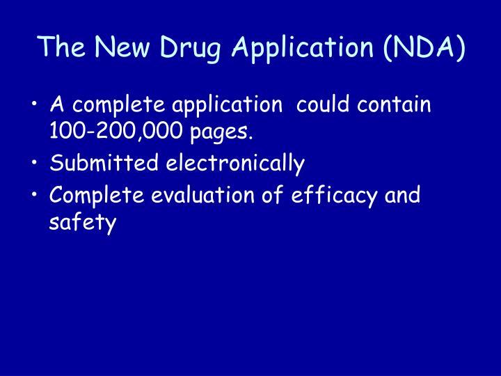 The New Drug Application (NDA)