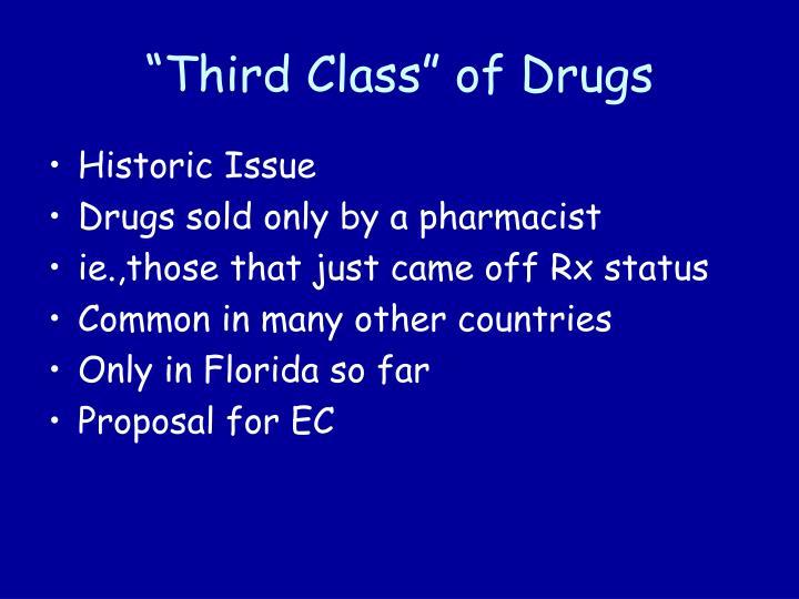 """Third Class"" of Drugs"