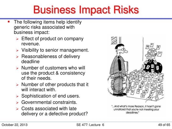 Business Impact Risks