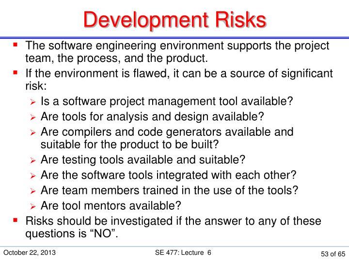 Development Risks