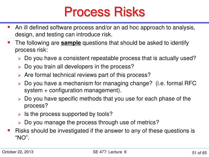 Process Risks