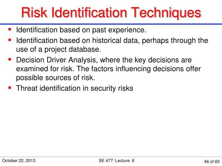 Risk Identification Techniques