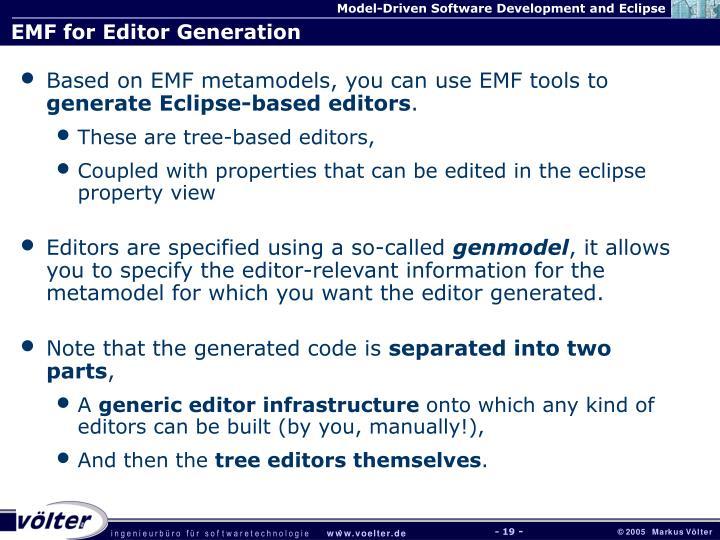 EMF for Editor Generation