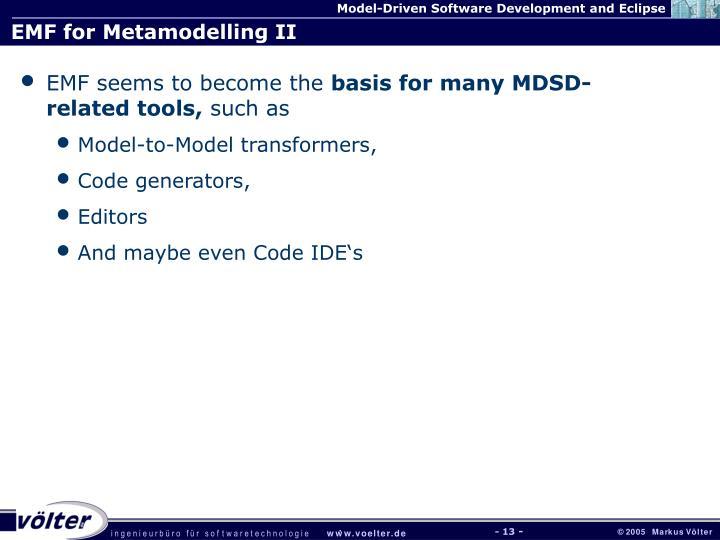 EMF for Metamodelling II
