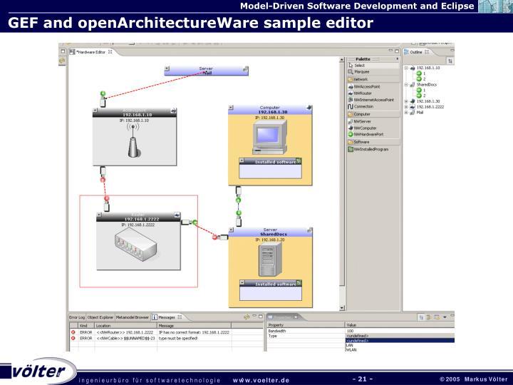 GEF and openArchitectureWare sample editor