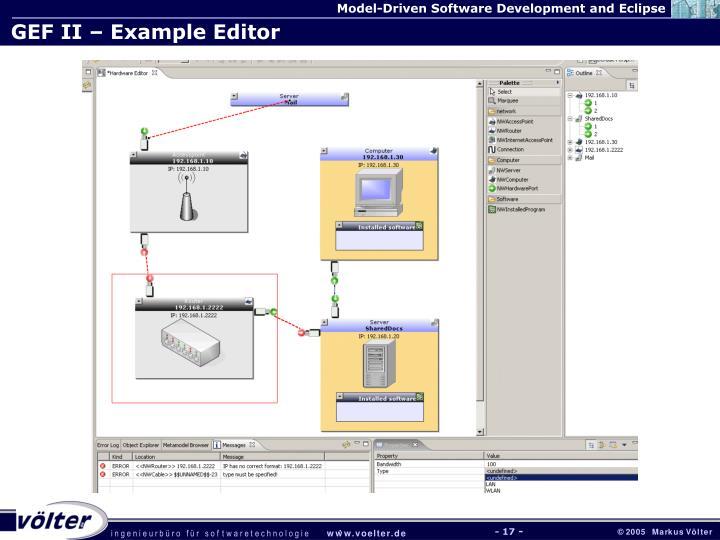GEF II – Example Editor