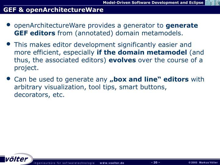 GEF & openArchitectureWare