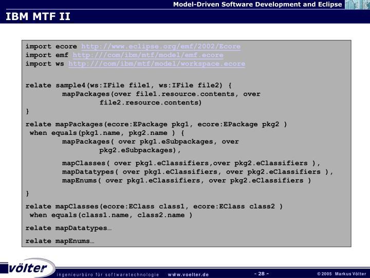 IBM MTF II