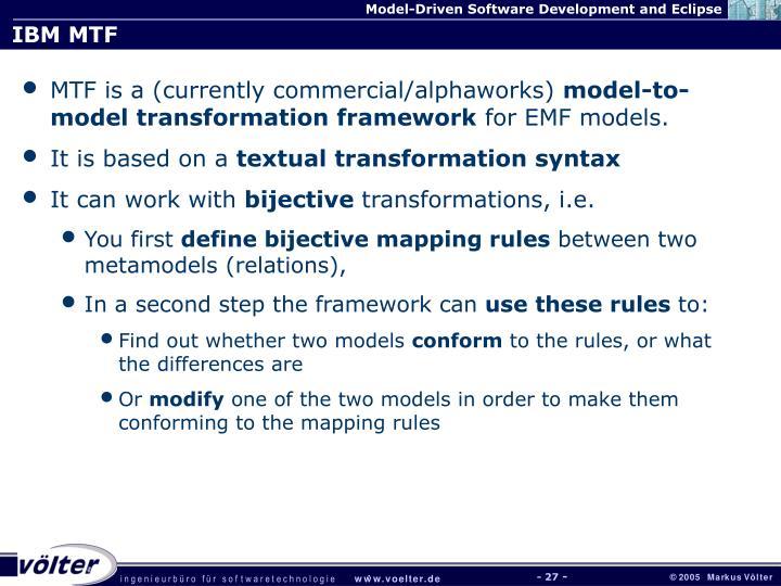 IBM MTF