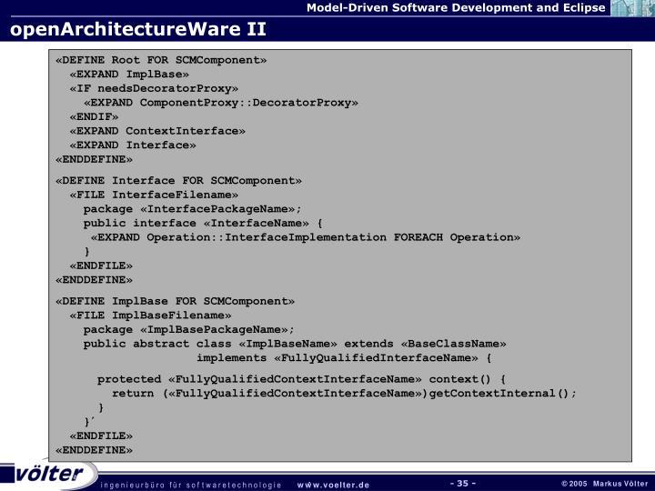 openArchitectureWare II